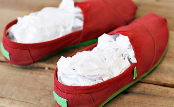 сушим обувь