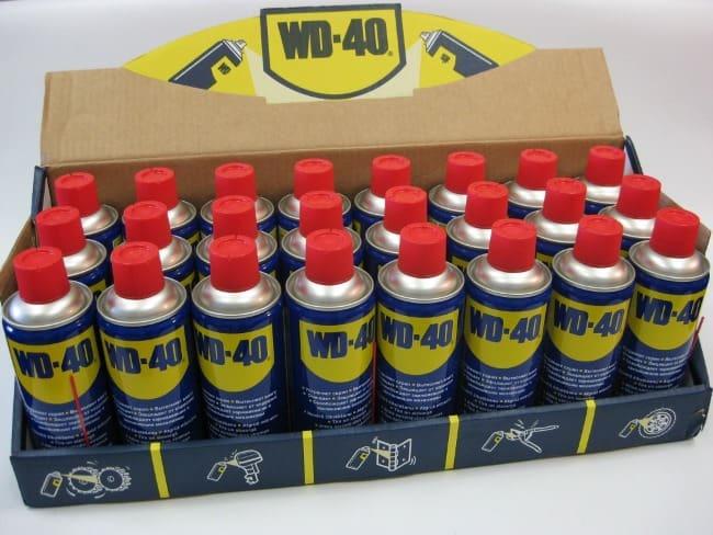 Смазка WD-40 – отличное средство против маркера