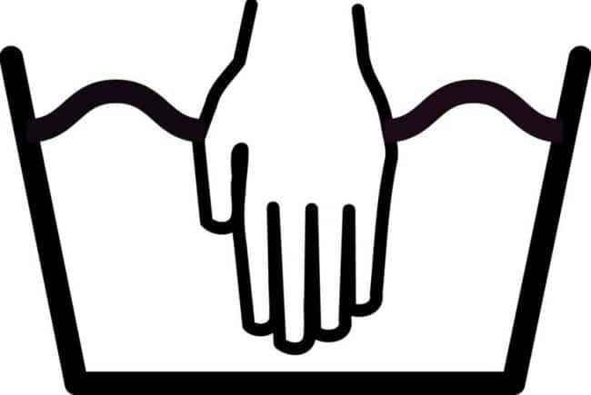 Значок ручной стирки