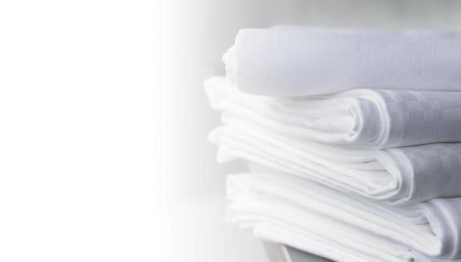 Белоснежные скатерти после химчистки