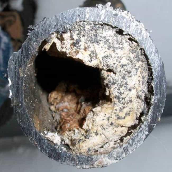 Типичная картина забитой трубы