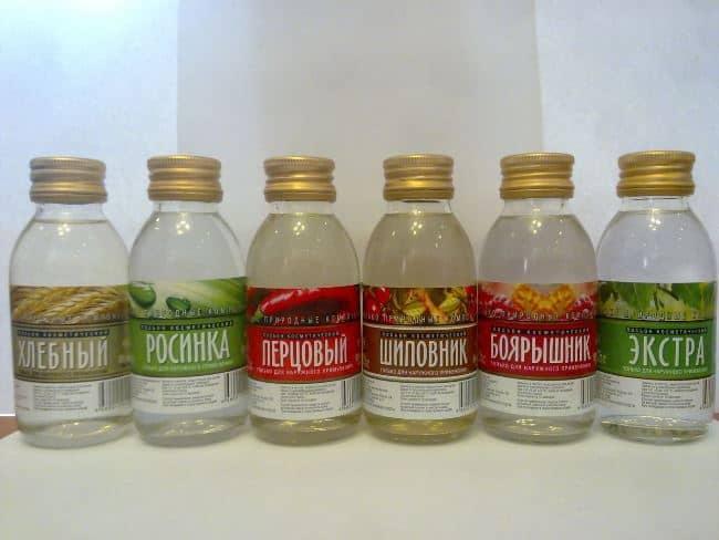 Спиртовые лосьоны, подходящие для удаления мехенди