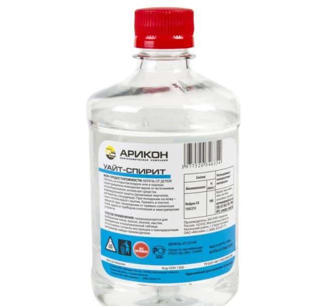 Уайт-спирит – аналог ацетону при очистке рук от силикона