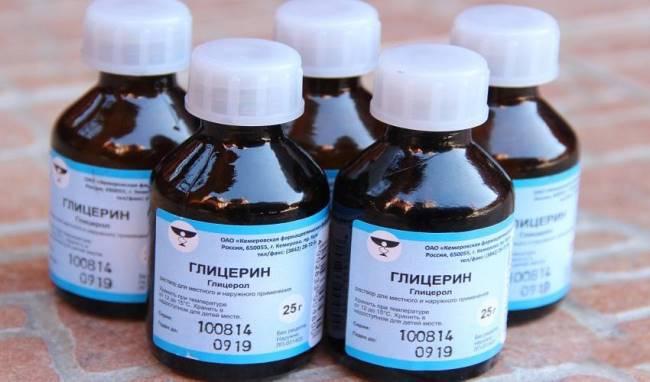 Глицерин – дешёвое, но эффективное средство от ручки