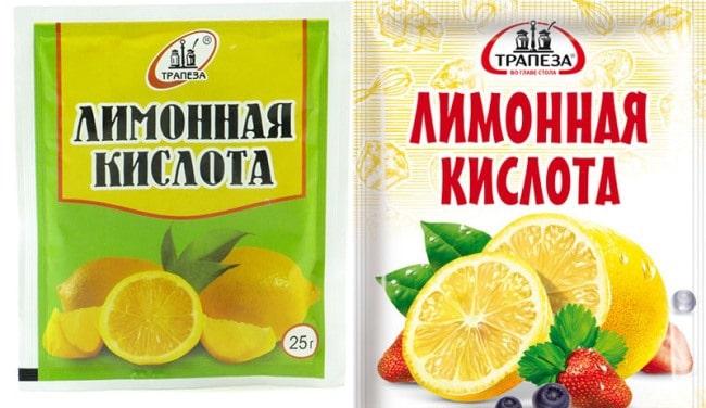 Лимонная кислота хорошо противостоит грибному пигменту