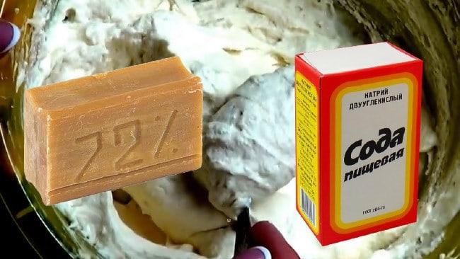 Мыло в сочетании с содой – отличное чистящее средство