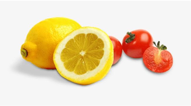 Лимон и помидор