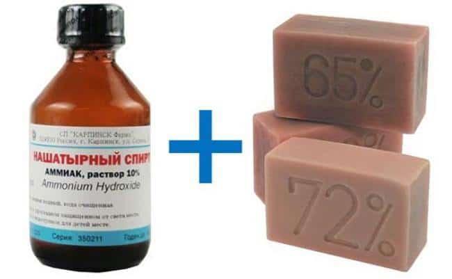 В комбинации мыло со спиртом отлично расщепляет чернила