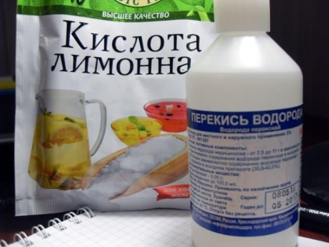 Смесь из перекиси и лимона поможет убрать даже засохшие пятна краски