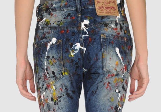 Выводим стойкие пятна краски с джинсов