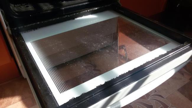 Закаленное стекло духовки