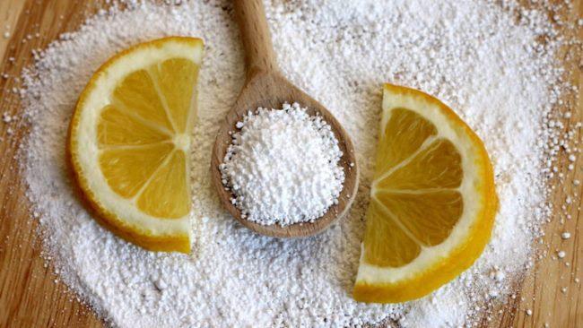 Чистка лимонной кислотой