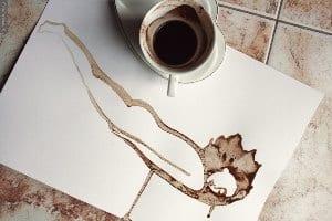 Бумага в кофе