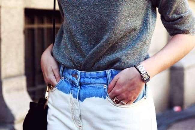 Линька джинсовых брюк