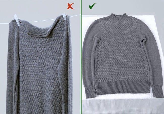 Как правильно сушить изделия из шерсти