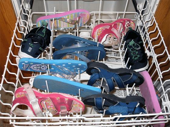 Стирка обуви в посудомойке