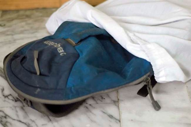 Стирка рюкзака в чехле