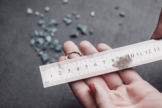Измерение диаметра кольца
