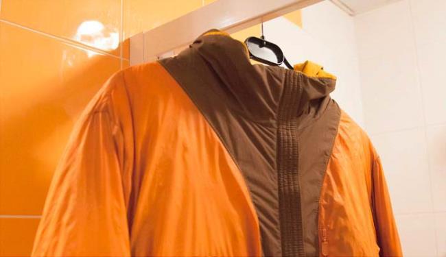 Мембранную куртку сушите только на плечиках