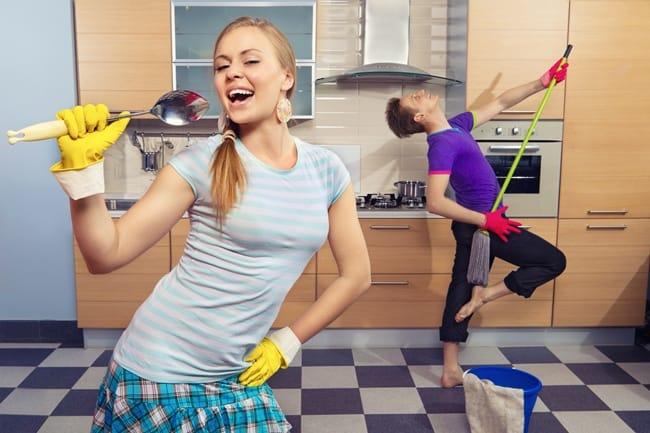 Делайте уборку только с хорошим настроением