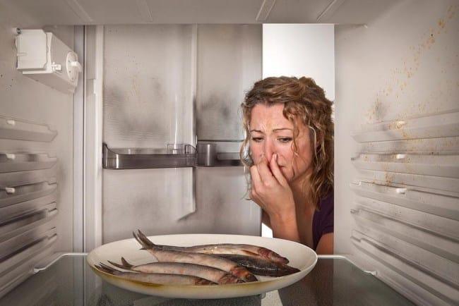 Долго лежавшая рыба будет вонять даже из закрытого холодильника