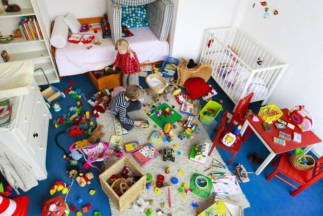 В детской всегда царит хаос