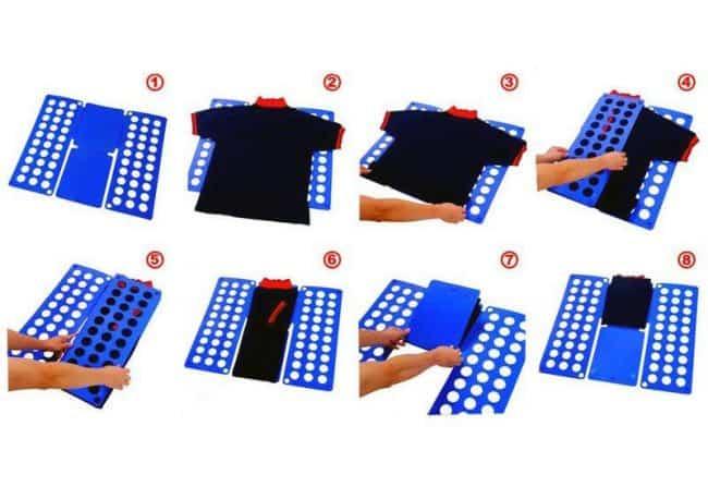 Чтобы быстро складывать текстильную продукцию, используют специальную решётку