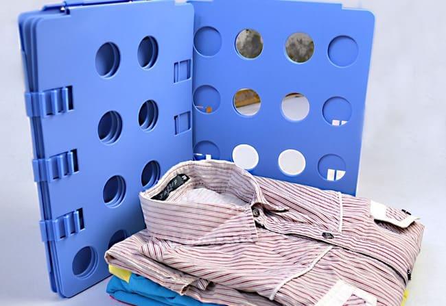 Размеры пластмассовой «грозы» складок – 60–70 см, её использование не доставляет сложностей