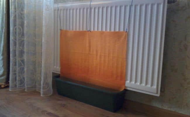 Высыхая, полотенце будет увлажнять атмосферу