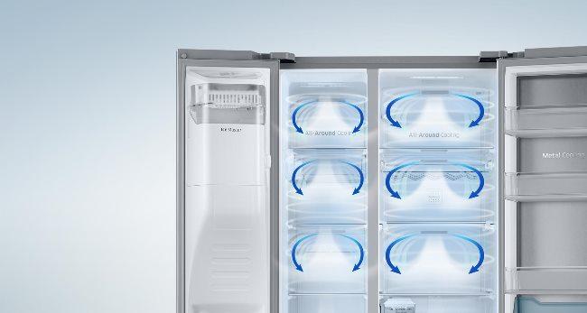 У морозилки и холодильной камеры свои компрессоры, испарители, а также вентиляторы