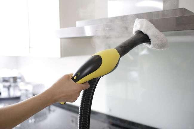 Короткого времени воздействия достаточно для удаления даже застарелых загрязнений и дезинфекции поверхности