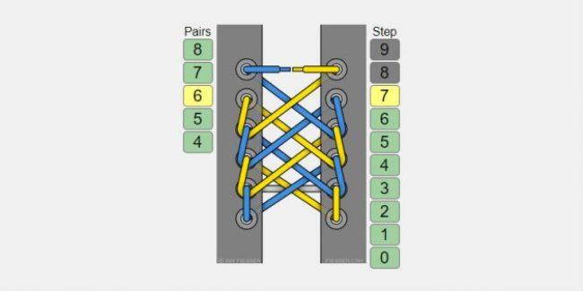 Схема шнуровки «Паутинка»