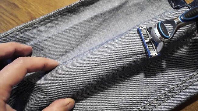 Внутренняя сторона материала имеет «рубчик» и лучше подходит для заточки