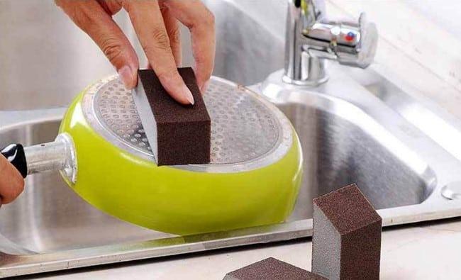 Подходит для посуды из нержавеющей стали и нелакированного дерева