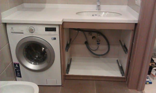 Правильное расположение стиральной машины