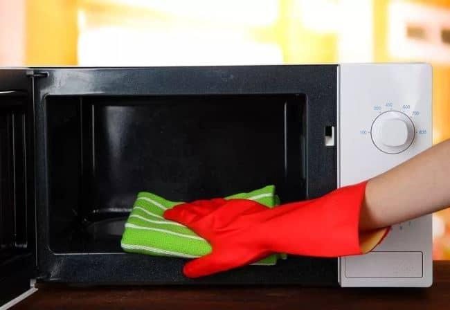 Тщательно промойте прибор изнутри, не закрывайте дверцу получаса