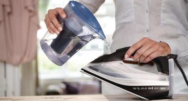 Фильтрованная вода отлично подходит для утюга