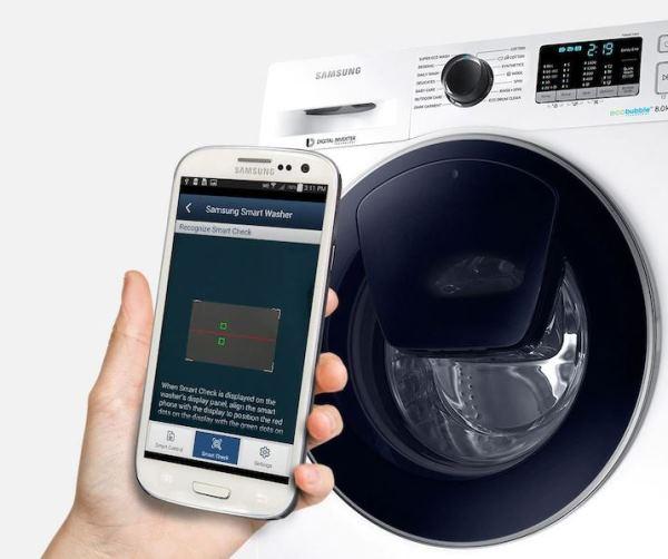 Управлять стиральной машиной можно даже находясь вне дома