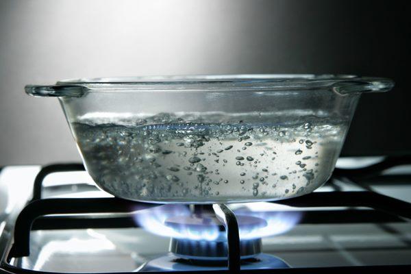 По размеру пузырьков можно определить степень нагрева