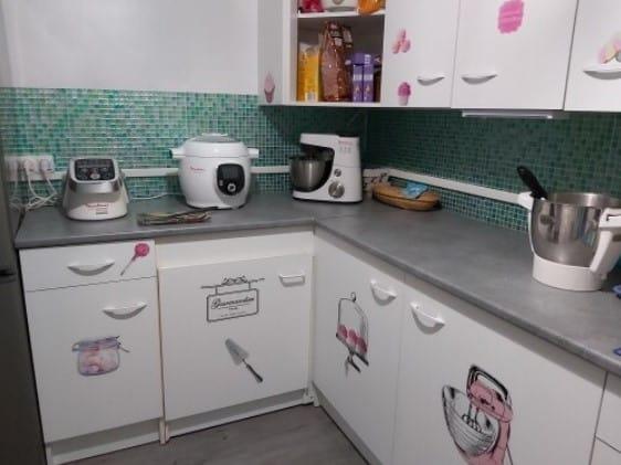 кухонный фартук с мозаикой