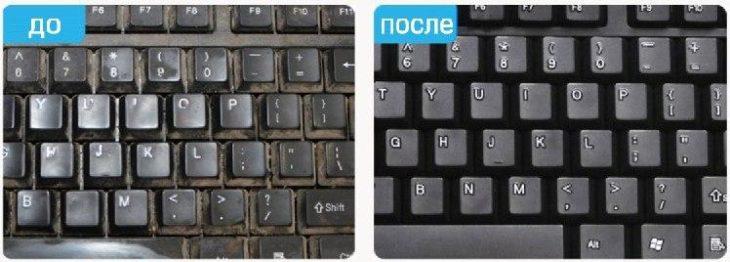 очищение клавиатуры