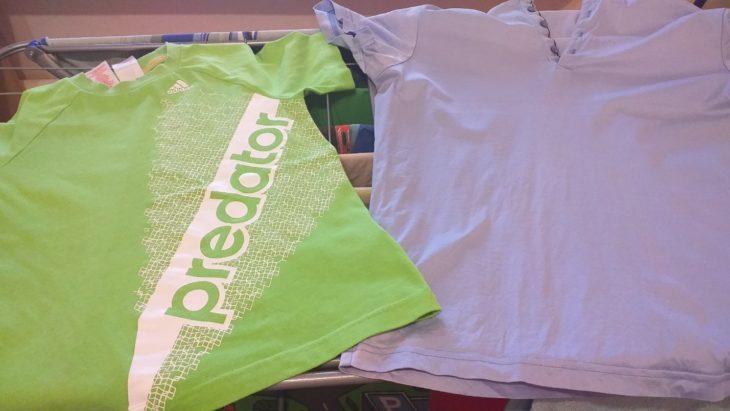 зеленая футболка с эффектом глажки