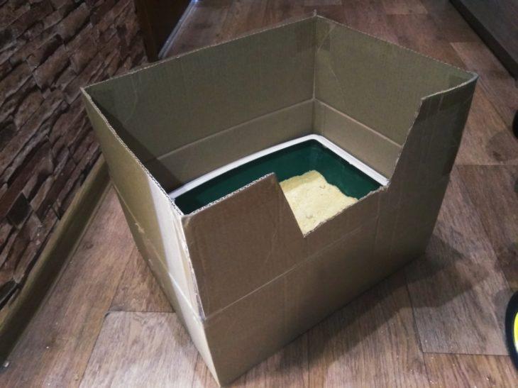 лоток в коробке