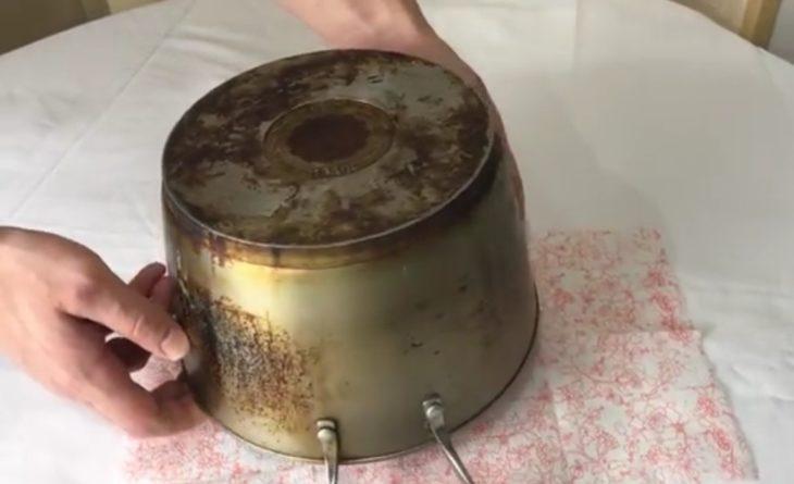 нагар на кастрюле