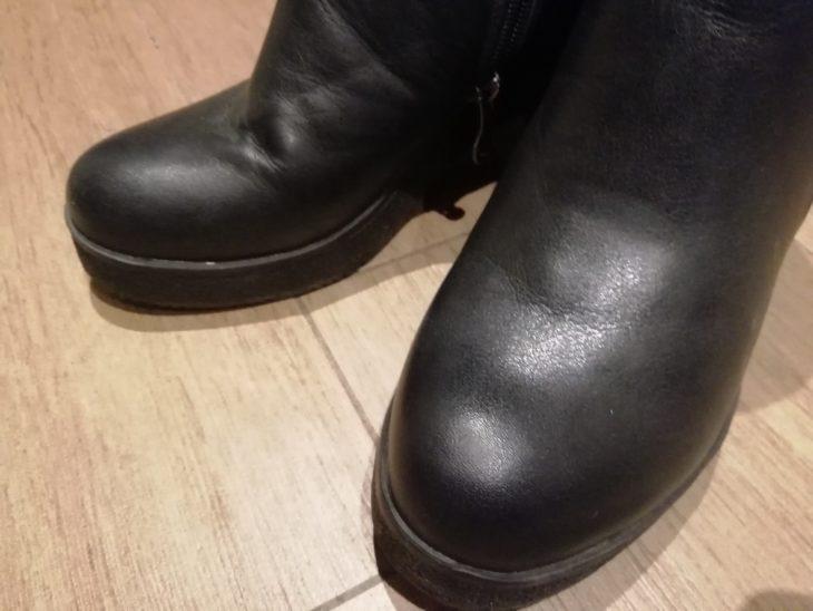 заломы на обуви исчезли