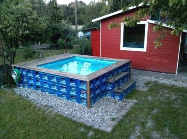 бассейн из ящиков