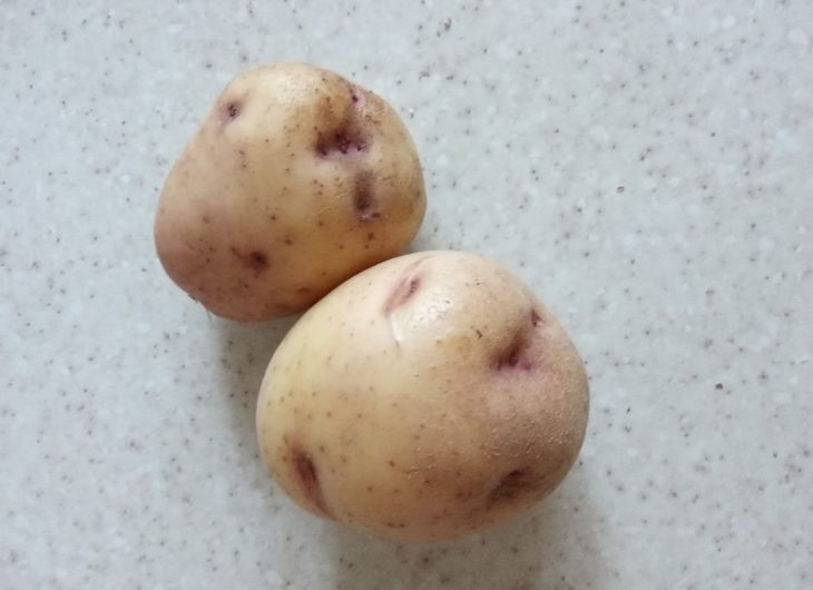 не чищенный картофель