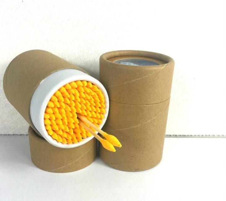 хранение ватных палочек в тубусе