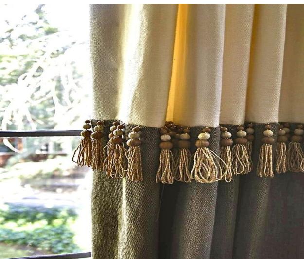 декорируем шторы