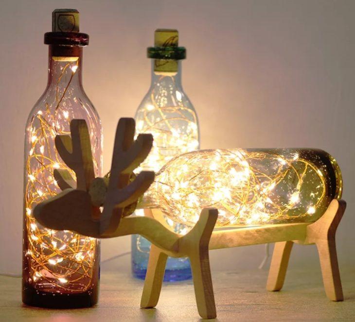 светильник своими руками из стеклянных бутылок